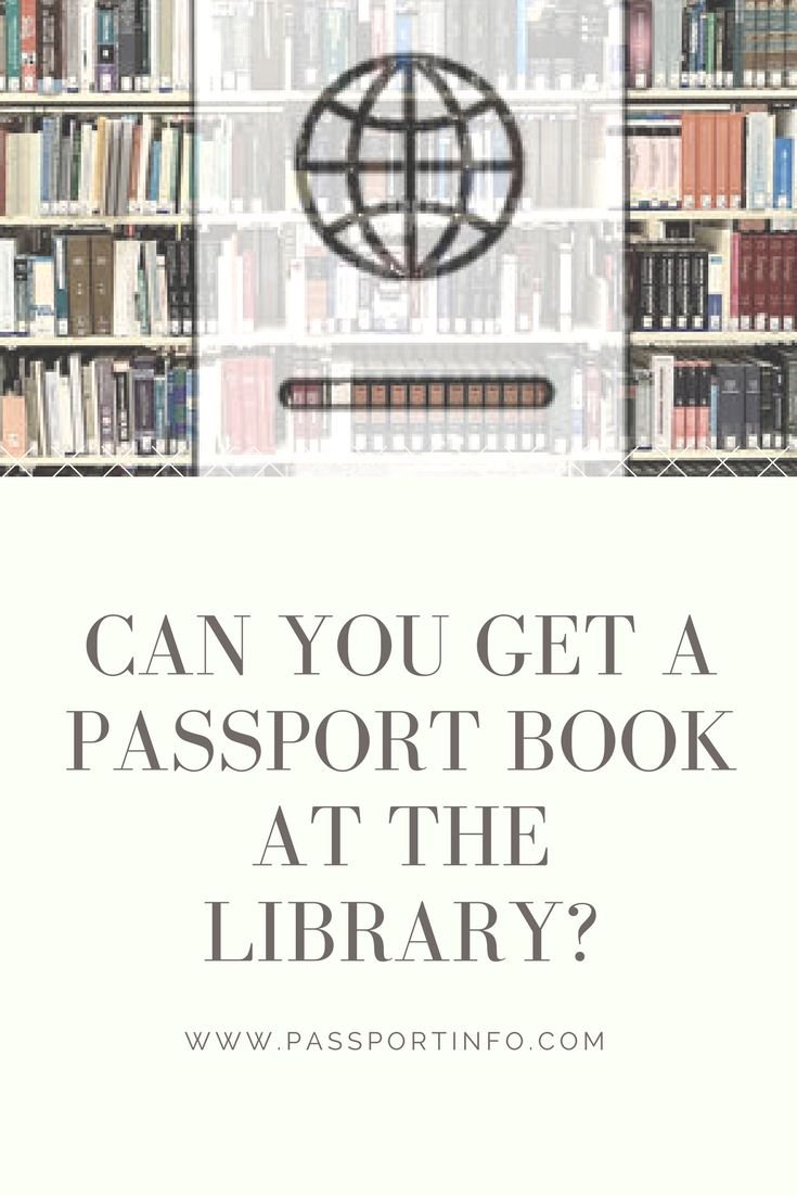 Now Apply for a Passport at the Public Library!