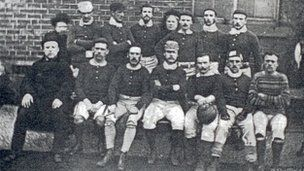 Sheffield FC team in 1857