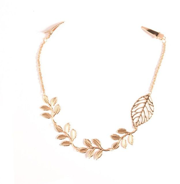 Plated Gold Leaf Boho Hairpiece