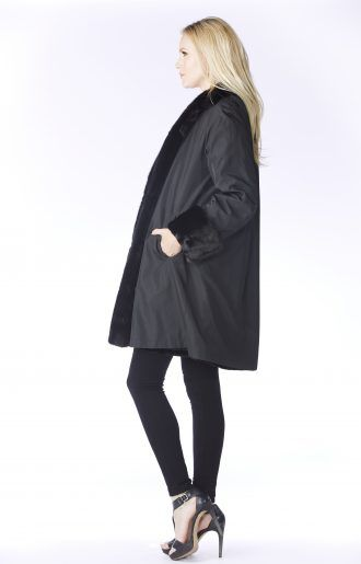 Black Sheared Mink Stroller - Women's Fur Coats for Sale