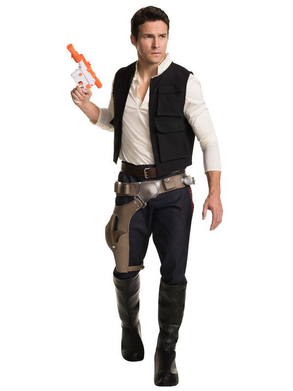 check out mens star wars classic han solo grand heritage costume wholesale tv movie - Classic Mens Halloween Costumes