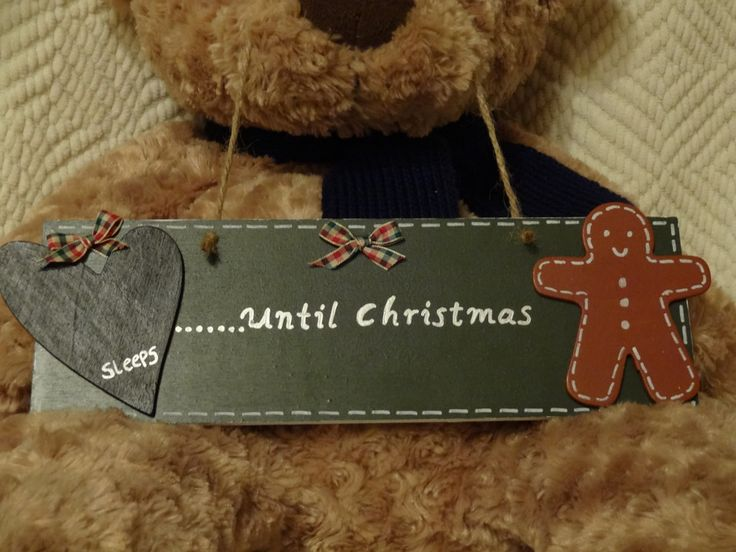 Christmas wooden countdown plaque $16