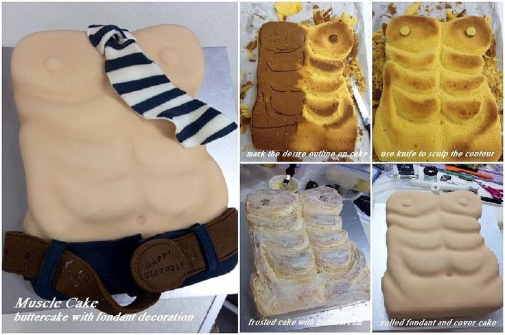 Male torso cake & 65 best Adult cakes images on Pinterest | Anniversary cakes Baking ...