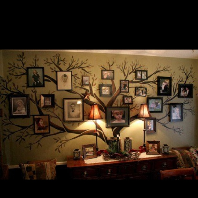 very nice consider a variationFamily Pictures, Decor Ideas, Family Trees, Families Trees Wall, Family Photos, Living Room, Family Tree Wall, Families Photos, Cool Ideas