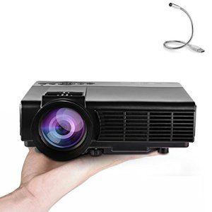 Vidéoprojecteur Yokkao® Q5 Full HD LED Mini Projecteur 800 Lumens 800×480 Résolution, 1000:1 Contraste Cinéma Maison Théâter Support…
