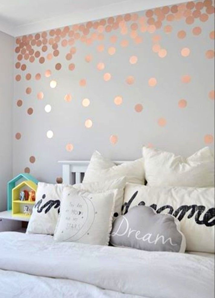Rose Gold Raining Glitter Decor For Soft And Subtle Bedroom Style