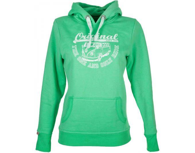 Van One Damen Hoodie Original Ride VW Bulli grün weiß Kapuzenpullover Hoody Jetzt bestellen unter: https://mode.ladendirekt.de/damen/bekleidung/pullover/kapuzenpullover/?uid=59a18422-e84f-574e-b510-a00bcc847d5e&utm_source=pinterest&utm_medium=pin&utm_campaign=boards #pullover #bekleidung #kapuzenpullover