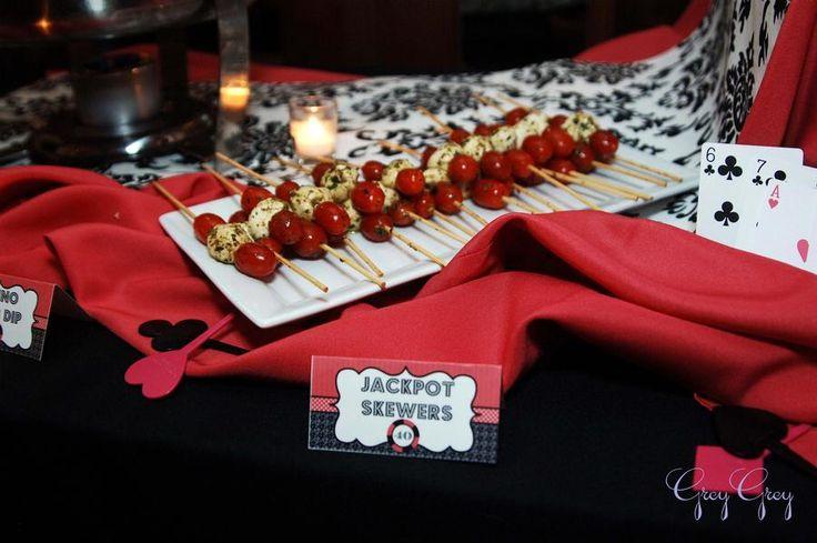 Casino night theme party food