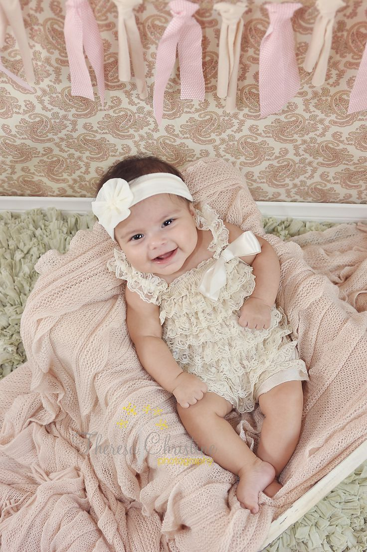 3 month old baby girl christening portrait - Google Search