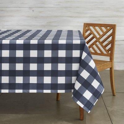 Buffalo Oilcloth Outdoor Tablecloth #williamssonoma