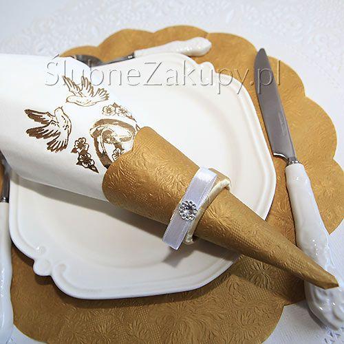 SERWETKI tłoczone Excellence Round Ø 32cm 12szt #slub #wesele #sklepslubny #slubnezakupy #dekoracje