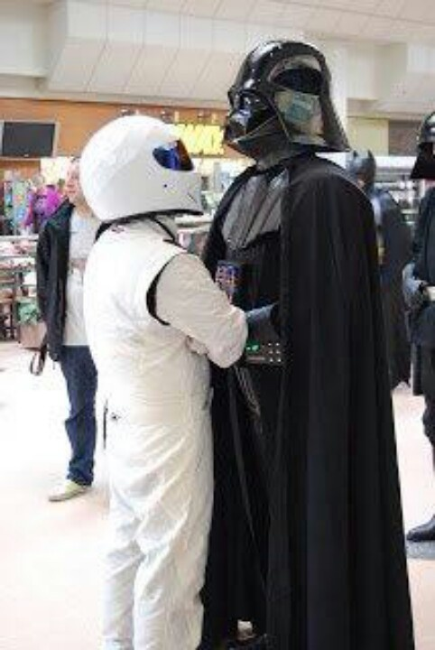 The Stig vs Darth Vader...this could get ugly...