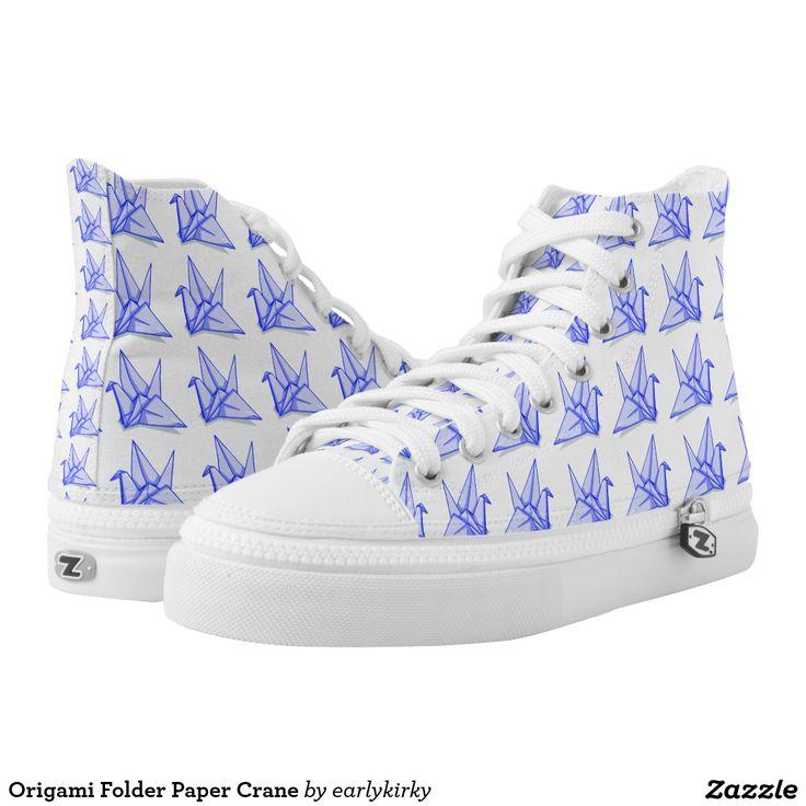 Origami Folder Paper Crane Printed Shoes