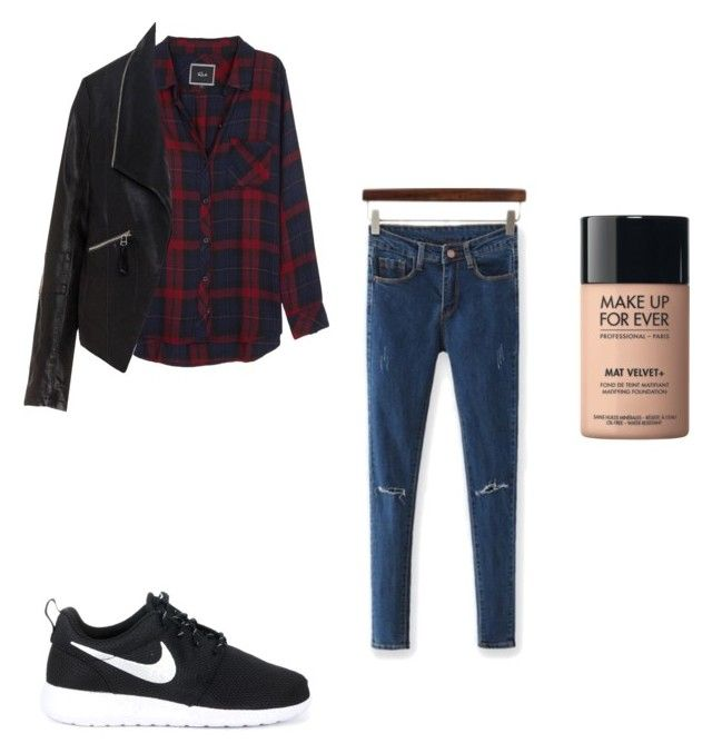 """h.k"" by hanika15 on Polyvore featuring interior, interiors, interior design, дом, home decor, interior decorating, NIKE, Rails, Zizzi и MAKE UP FOR EVER"