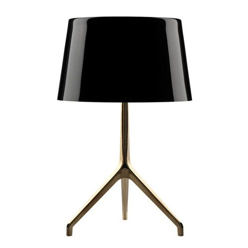 brass and black threeleg table lamp - Lamp Shades For Table Lamps