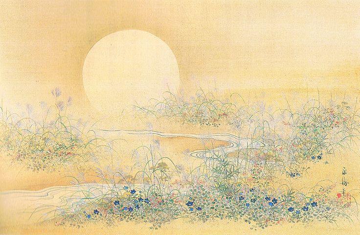 Moon and Wildflower in Autumn Satake Eikai