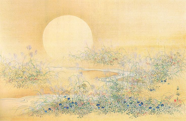 Moon and Wildflower in Autumn Satake Eikai