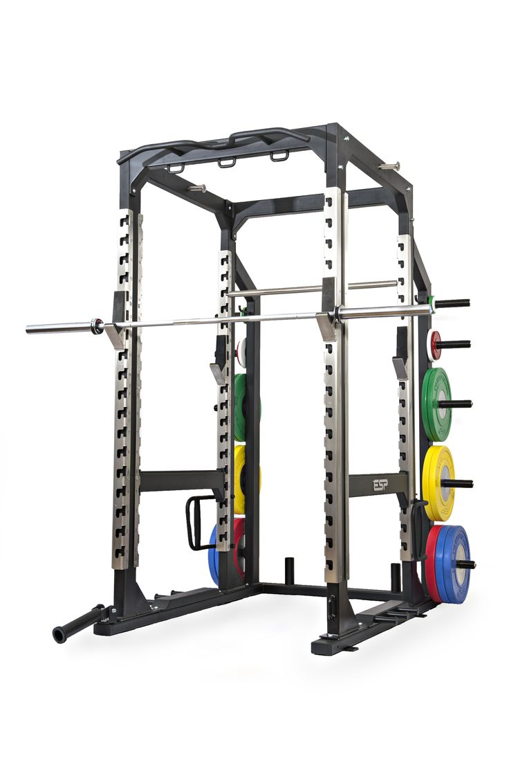 ESP Fitness Pro Power Rack with Integrated Accessories - The Pro Power Rack provides unrivalled functionality, robustness and aesthetics. Constructed from heavy duty box section steel and powder coated in a scratch resistant leatherette matt black finish, the 4mm heavy duty stainless steel upright channels provide support to the light weight (3kg) sit-smooth bar hooks with UHMW Nylon inserts and an unrivalled lifetime year warranty