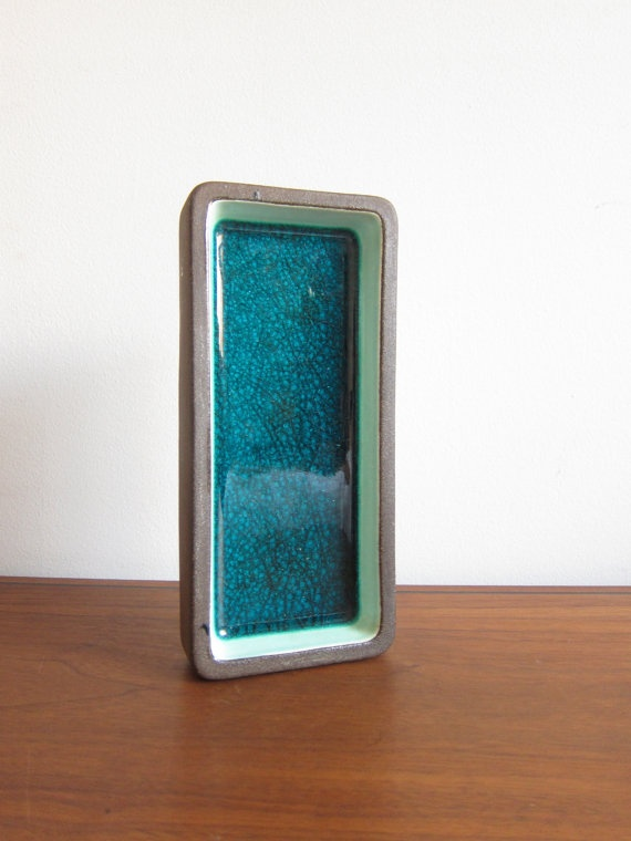 Danish Knabstrup Ceramic Tray in Turquoise by ModernSquirrel, $29.00