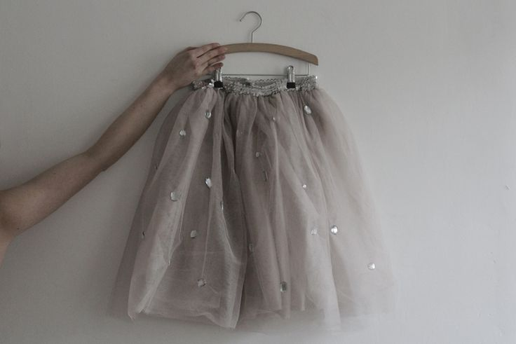 "I love the subtle scatter of sequins on this.  I could totally make a grown-up-glam tulle skirt and add a few beads and sequins and ""shiny things"" to it, I think!"