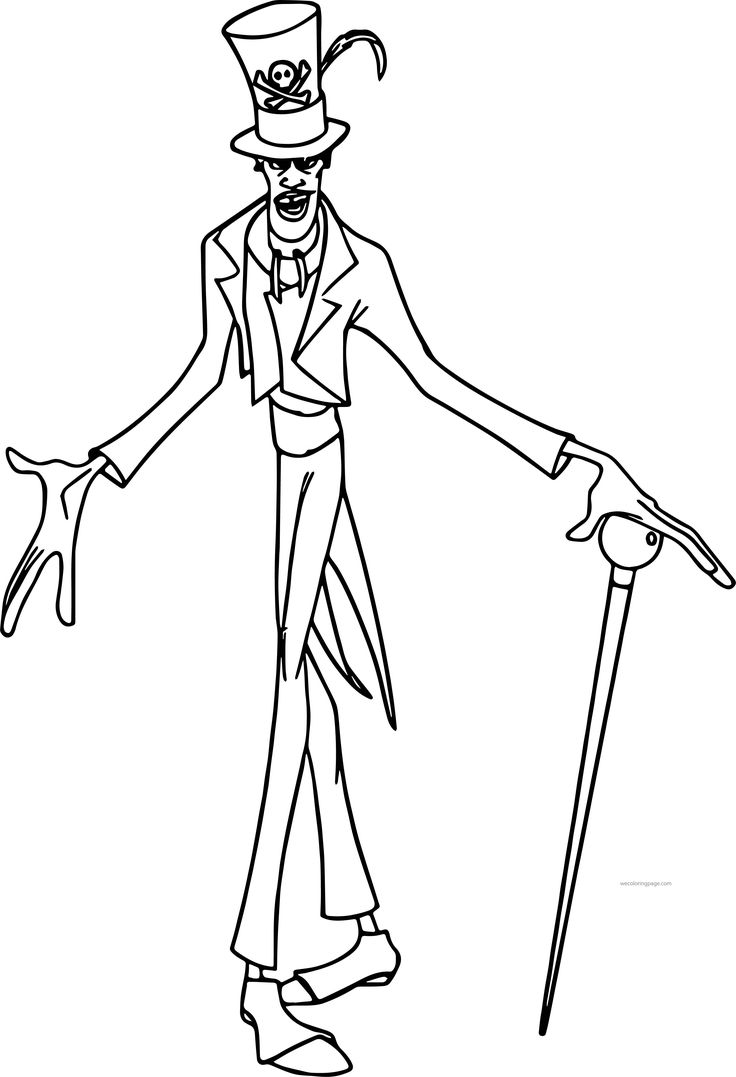 Cool Disney The Princess And The Frog Dr Facilier Cartoon