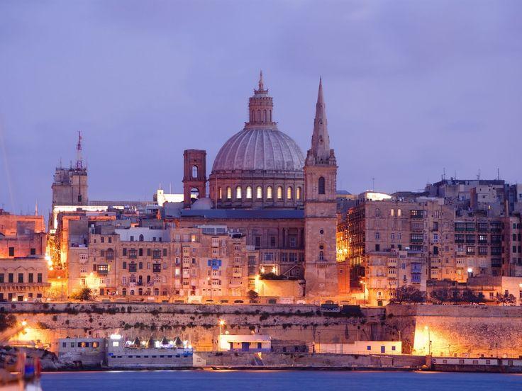 Night View Of Valletta