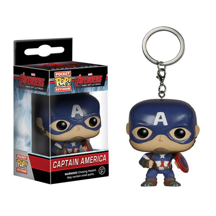 Funko Pop Deadpool Hulk Captain America Thor Iron Man Spiderman Keychain Marvel 4cm //Price: $9.45 & FREE Shipping //     #actionfigure