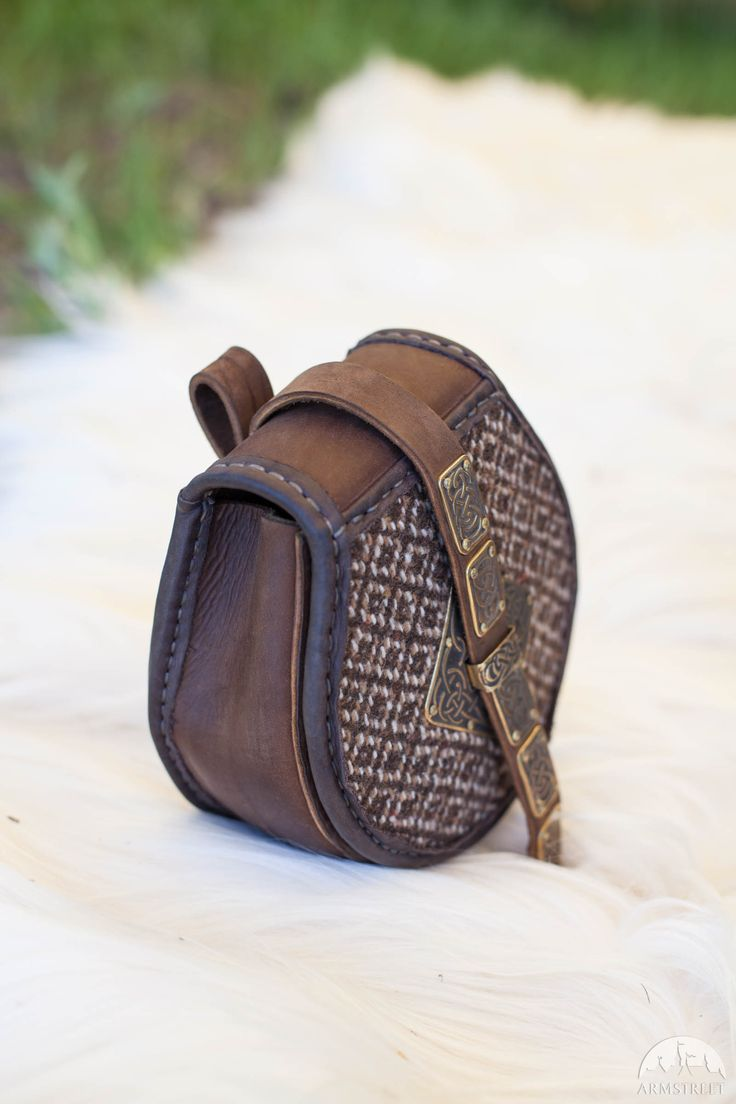 "La borsa di pelle in stile vichingo ""Skjaldmaer"""