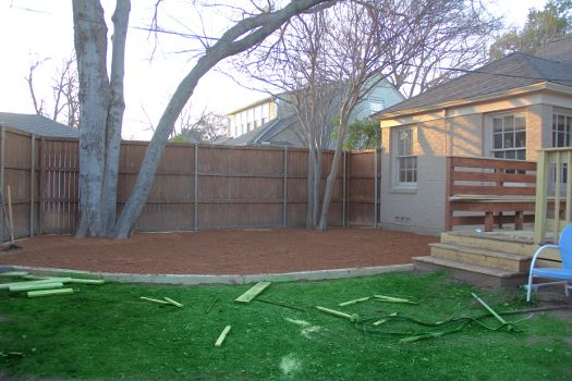 [EDIT]:To see our almost finished backyard, click here. After (literally) a year of planning, our decomposed granite patio is done (and for less than $500)!! The first step in building our decompos...