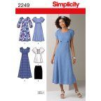 Simplicity Pattern Plus Size Dresses, (20W-28W)