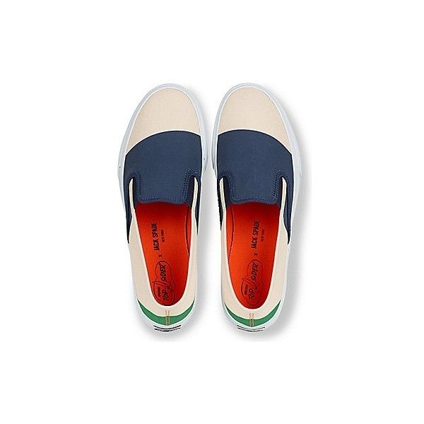 Unisex Jack Spade Cloud Nautical Color Block Canvas Sneaker ❤ liked on Polyvore featuring shoes, sneakers, slip on trainers, nautical shoes, slip-on sneakers, plimsoll sneakers and pull on shoes