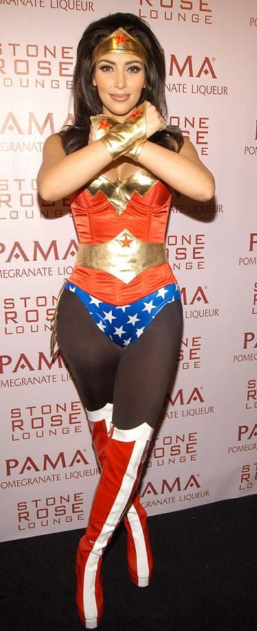 kim kardashian wonder woman costume the most beautiful look ever - Halloween Tights For Women