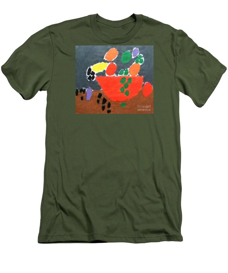 Patrick Francis Slim Fit T-Shirt featuring the painting Bowl Of Fruit 2014 by Patrick Francis