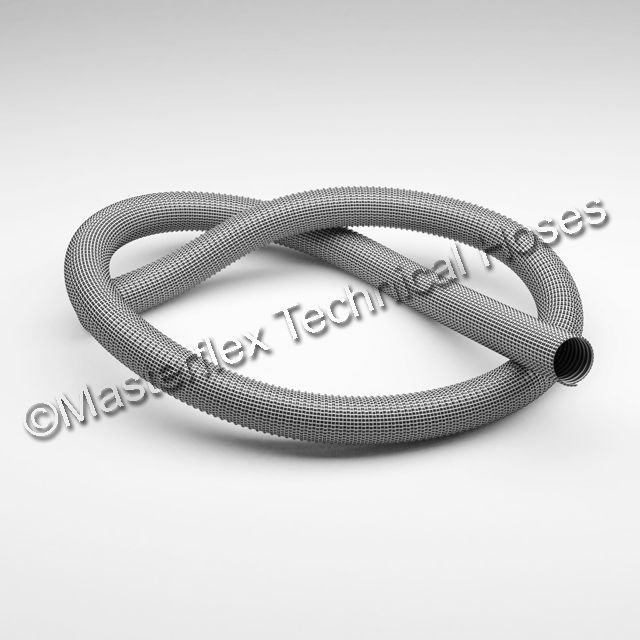 MASTER-PVC FLEX: Two layers of soft PVC with yarn reinforcement and reinforced internally with plastic coated spring steel wire helix. For use with domestic vacuum cleaners; industrial vacuum cleaners and scrubbers; dust extraction; weld fumes and for cable protection. • Extremely flexible and lightweight • Nearly smooth bore