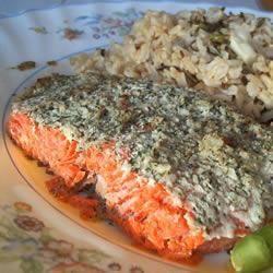 лосось в духовке с чесноком и укропом