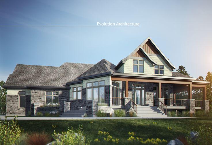 Evolution Architecture inc, maison champêtre, création exclusive E-924