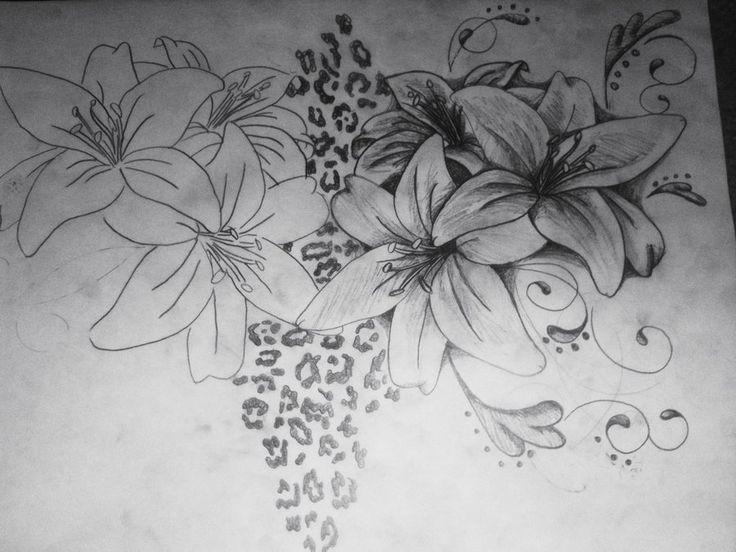Image detail for -lilies swirls leopard print 2 by ~brittneystar on deviantART
