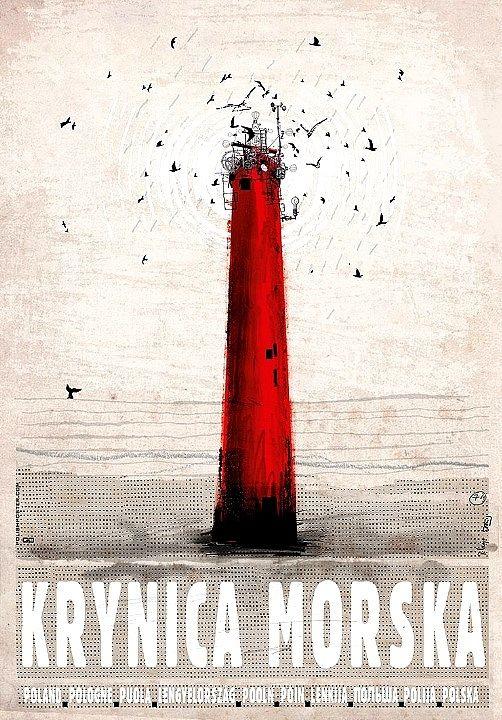 Krynica Morska, plakat promocyjny, Ryszard Kaja