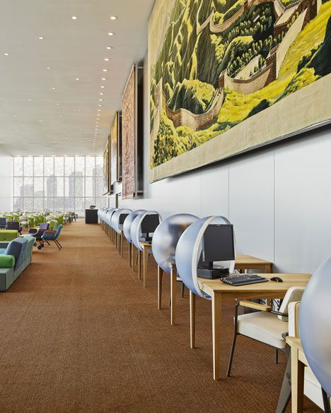 United Nations North Delegates Lounge by Hella Jongerius and Rem Koolhaas