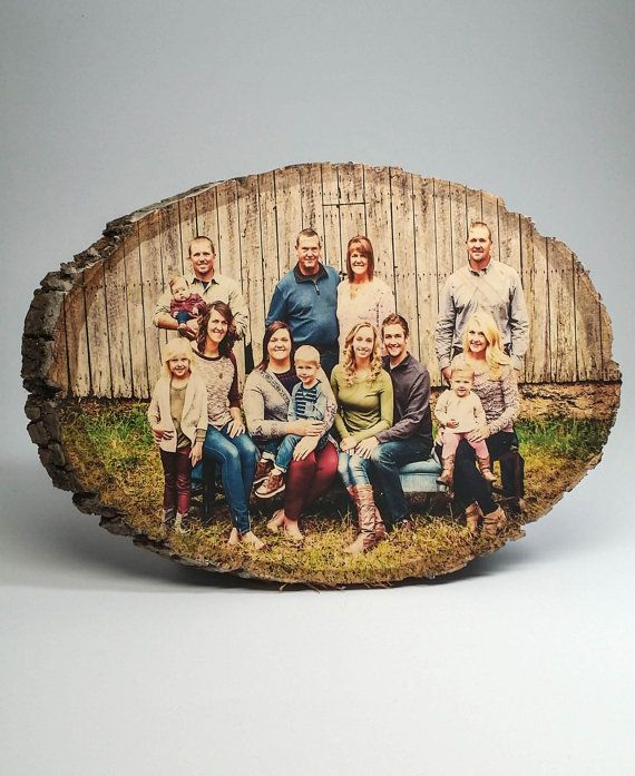Custom photos printed directly onto beautiful, rustic basswood with bark.  • • CURRENT TURNAROUND TIME: ALL OVAL WOOD PHOTO ORDERS PLACED ON OR AFTER 11/30 WILL NOT BE GUARANTEED ARRIVAL BEFORE CHRISTMAS. OVAL WOOD PIECES ARE CURRENTLY ON BACK-ORDER. RECTANGLE & SEMI CIRCLE ORDERS PLACED AFTER 11/30 WILL NOT BE GUARANTEED ARRIVAL BEFORE CHRISTMAS. PALLETS (8 x 16) ARE STILL AVAILABLE AND WILL ARRIVE PRIOR TO CHRISTMAS. Due to an extremely large volume of holiday orders, please a...