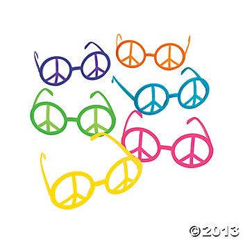 Peace Sign Eyeglasses party favor
