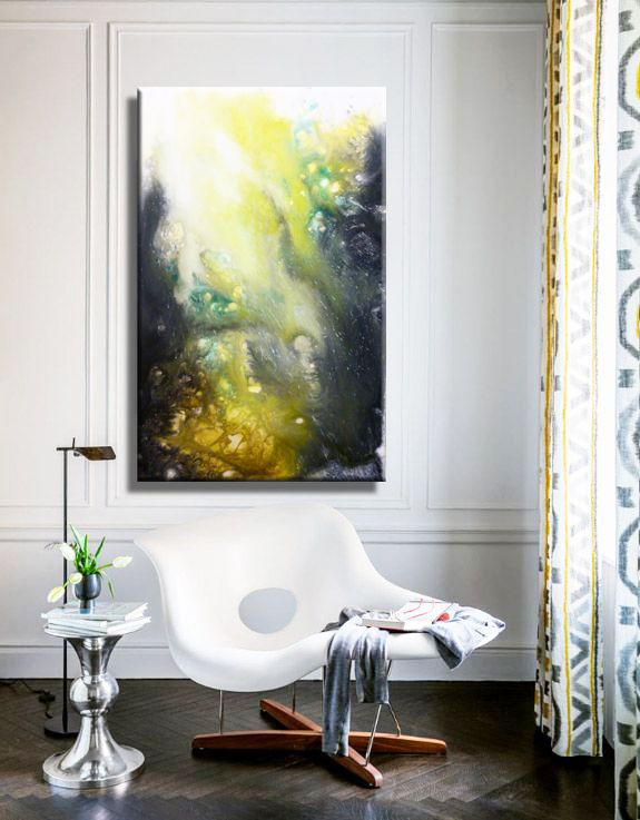Interior design with painting adaptation of Joo Feij Art.