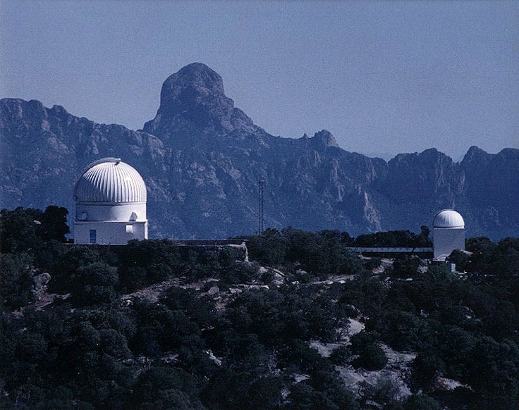 Kitt Peak National Observatory The Rocky Dome In The Distance Is Mt Baboquivari Which Is The