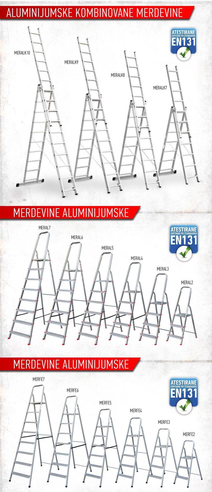 #BEOROL - ALUMINIJUMSKE #MERDEVINE ALUMINIUM #LADDERS www.beorol.com #tools #construction #alat #majstori #keramičari #moleri