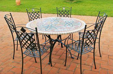 Oltre 25 fantastiche idee su tavolo mosaico su pinterest for Tavolini da esterno in ferro