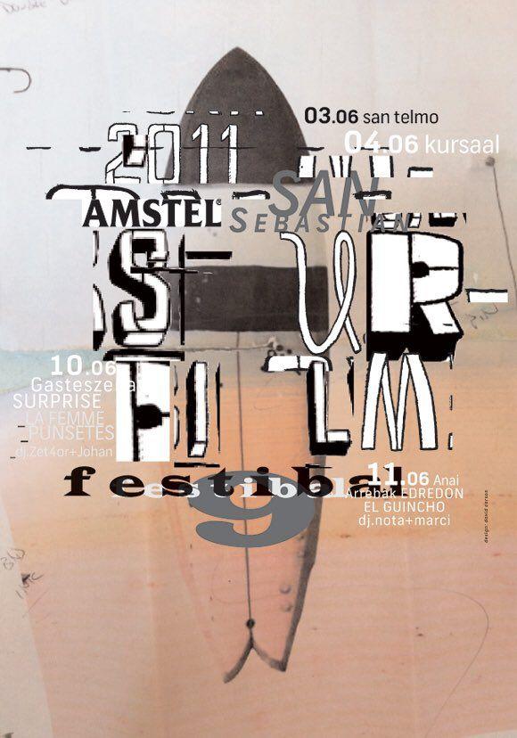 Surf Film #Festival (2011) poster by David Carson. @thebigfeastival via…