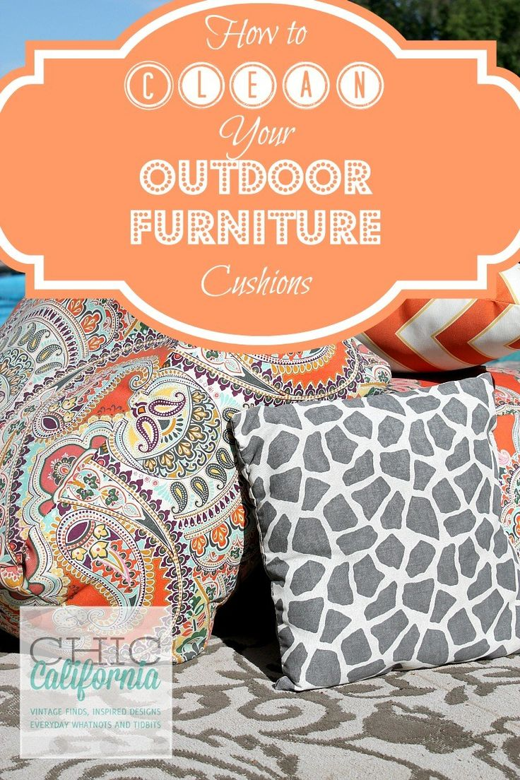 How To Clean Your Outdoor Furniture Cushions