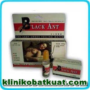 Obat perangsang black ant cair atau semut hitam berguna untuk meningkatkan gairah nafsu wanita dengan cepat, Produk ini sangat ampuh dan manjur membuat cewek atau perempuan semakin bernafsu.