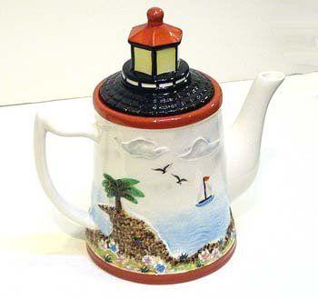 Amazon.com: Lighthouse Nautical Teapot Tea Pot Coffee Kitchen Decor: Kitchen & Dining