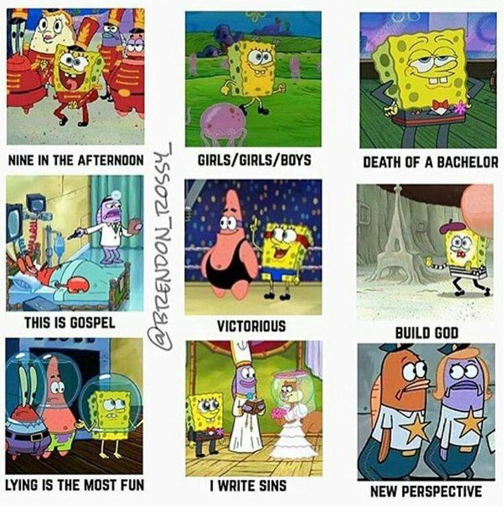 Panic! Songs As Spongebob Episodes